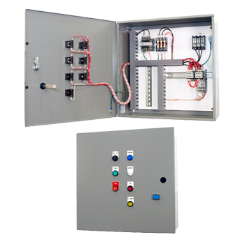 Combination motor starters iec nema rated motor for Motor starter control panel