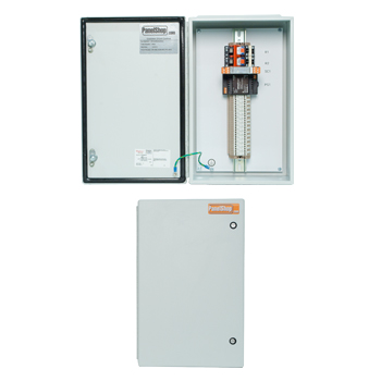 Interior and exterior photos of a junction box